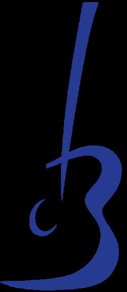 Ganze Gitarre aus Logo